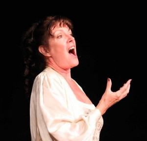 Mary singing the Letter Aria by Tchaikovsky. Photograph courtesy of Alan Clements.
